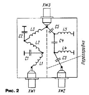 Схема сумматор антенн